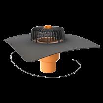 Wpust dachowy pionowy ogrzewany ze zintegrowanym kołnierzem na zamówienie